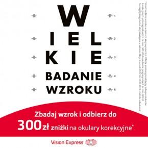 Wielkie Badanie Wzroku w Vision Express