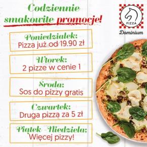 Pizza Dominium – codziennie smakowite promocje!