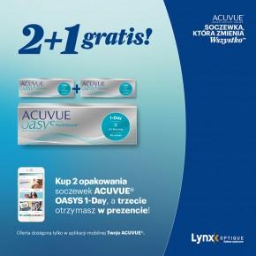 Acuvue 2+1 GRATIS z Aplikacją W Lynx Opique!