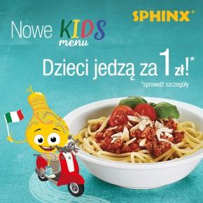 """Nowe Kids Menu w Sphinx i promocja """"Dzieci jedzą za 1 zł!"""""""