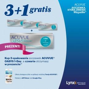 3+1 GRATIS 1-Day Acuvue Oasys w Lynx Optique!