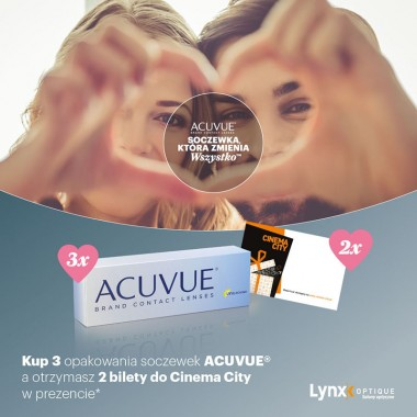 Bilety do kina w prezencie z Acuvue na Walentynki!