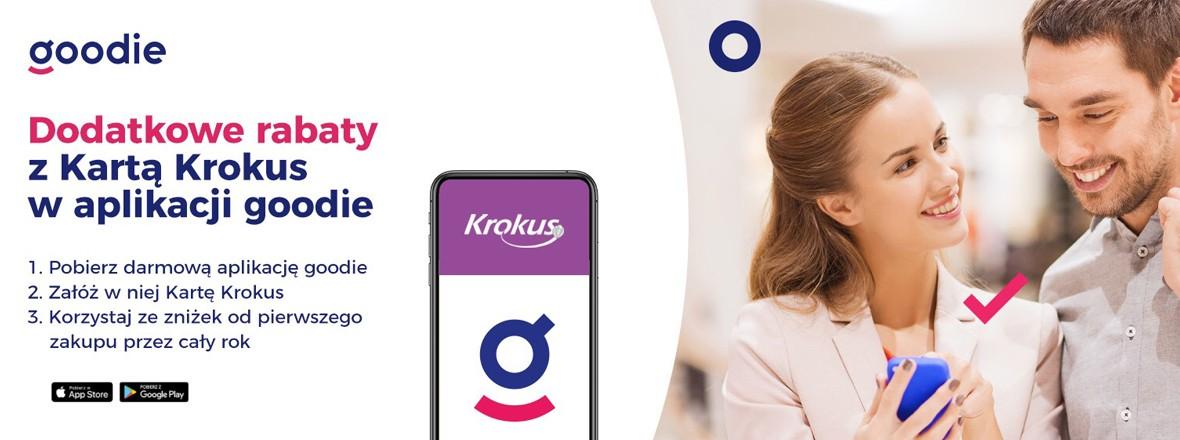 Karta rabatowa Centrum Handlowego Krokus w aplikacji goodie