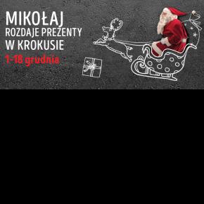 Mikołaj rozdaje prezenty w Krokusie