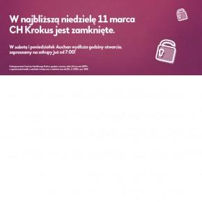 W najbliższą niedzielę CH Krokus jest zamknięte!