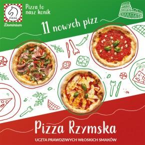 Pizza Rzymska –  aż 11 nowych pizz w restauracji Pizza Dominium!