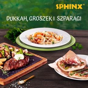 Dukkah, groszek i szparagi w restauracjach Sphinx