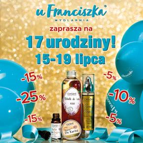 17 urodziny Mydlarni u Franciszka!