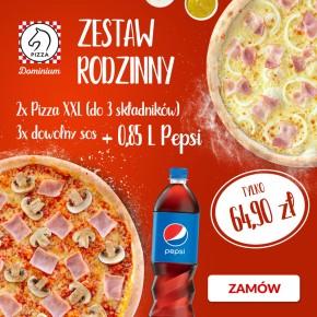ZESTAW RODZINNY w Pizza Dominium