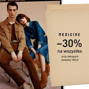 -30% na wszystko przy zakupach powyżej 100zł