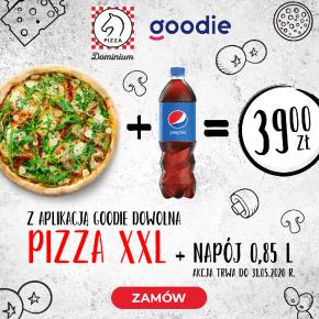 Dowolna pizza XXL + Pepsi 0,85 l za 39 zł!
