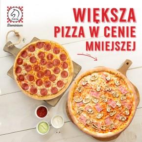 Większa pizza w cenie mniejszej w Pizza Dominium