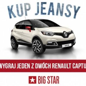 Kup jeansy BIG STAR i wygraj jeden z dwóch Renault Captur!