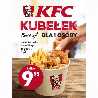 Kubełek dla jednej osoby tylko za 9,95zł w KFC Krokus