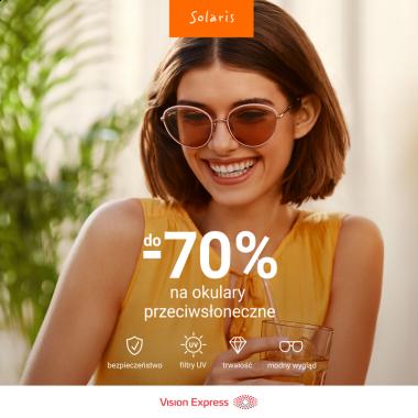 Do -70% na okulary przeciwsłoneczne