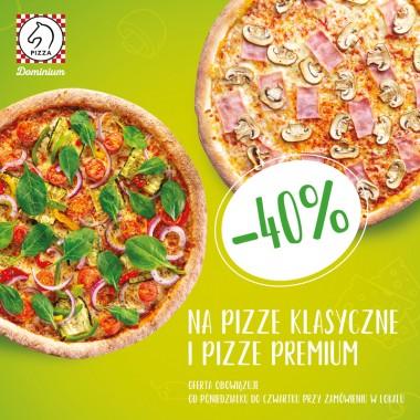 Pizza Dominium -40% na pizze klasyczne i premium