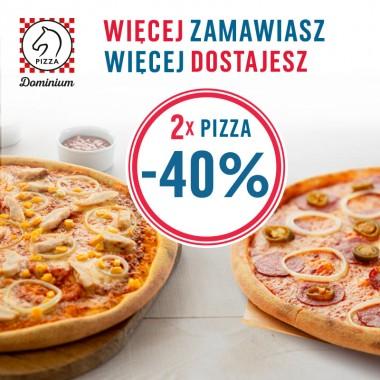-40% przy zakupie dwóch pizz w Pizza Dominium