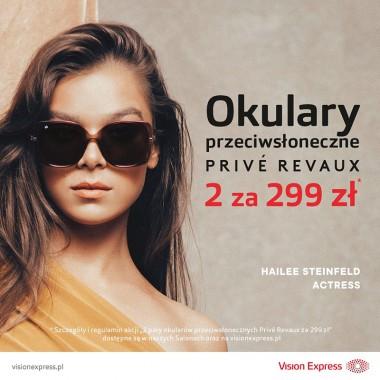 Promocja na okulary przeciwsłoneczne marki Privé Revaux